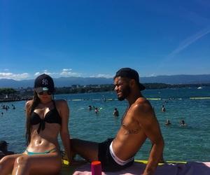 beach, bikini, and fitness image