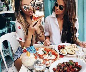 girl, food, and friends image
