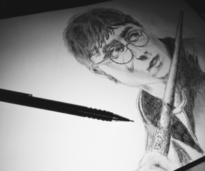 magic, drawing, and harrypotter image