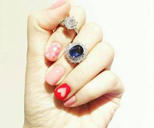 rings, nail color, and beautiful hands image
