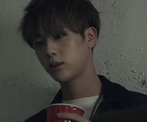 bts, jin, and run image