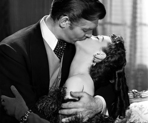 kiss, clark gable, and Gone with the Wind image