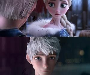 frozen, jack frost, and elsa image