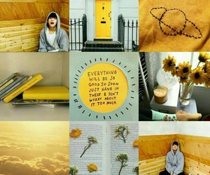aesthetic, yellow, and v taehyung image