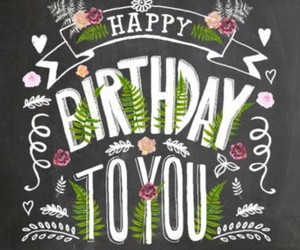 banner, chalkboard, and birthday card image