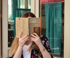 book, vintage, and cafe image