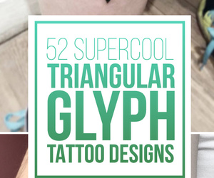 tattoo, triangle tattoos, and glyph tattoos image