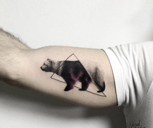 tattoo, geometric tattoo, and triangle tattoo image