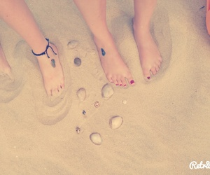 beach, sand, and sea shells image