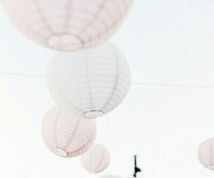 pink, sky, and lantern image