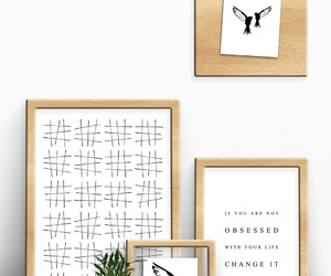abstract art, bedroom, and chic image