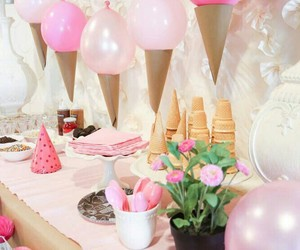 party, ice cream, and pink image