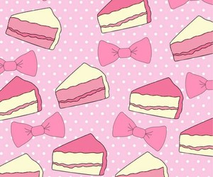 pink, bow, and wallpaper image