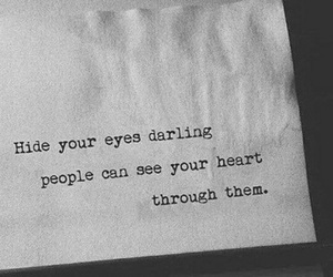 quotes, eyes, and heart image