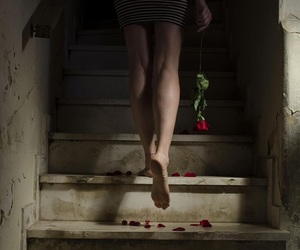 photography, girl, and stairs image