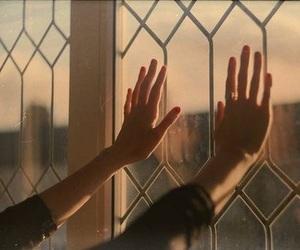 hands, aesthetic, and window image