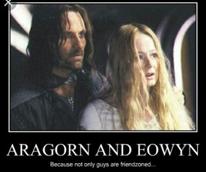 aragorn, eowyn, and the lord of the rings image
