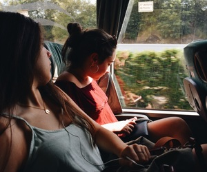 bus, summer, and friends goals image