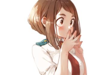 anime girl, uraraka ochako, and uravity image
