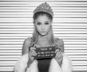 ariana grande, let me love you, and dangerous woman image