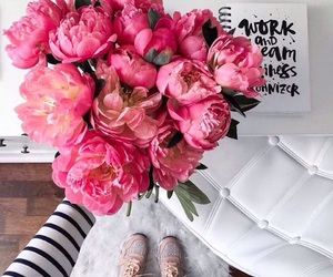 flowers, pink, and lettering image