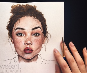 watercolor, art, and artist image