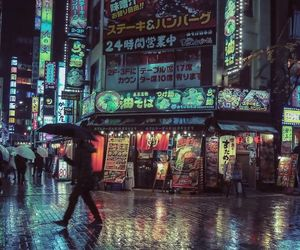 tokyo, night, and japan image