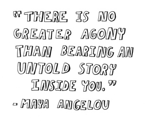 quote, agony, and story image