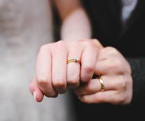 love, couple, and rings image
