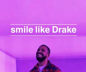 Drake, smile, and wallpaper image