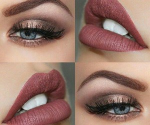 eyeliner, labios, and makeup image
