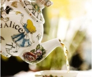 tea, alice in wonderland, and teapot image