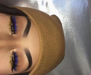 eyebrows, gold, and eyeshadow image
