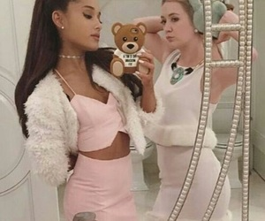pink, ariana, and grande image