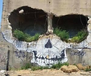 art, graffiti, and skull image