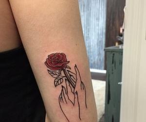 tattoo, rose, and tumblr image