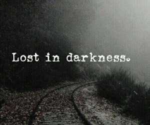 lost, Darkness, and wallpaper image
