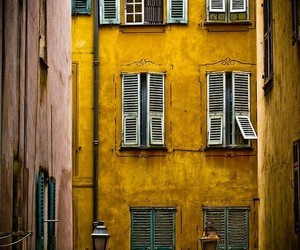 yellow, photography, and house image