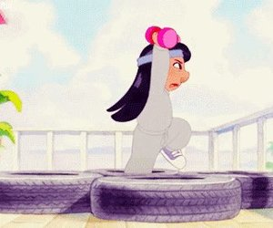 disney, lilo, and exercise image