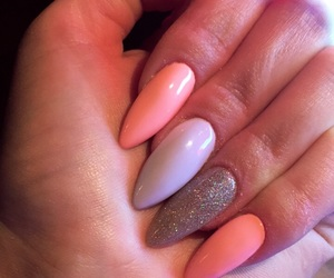 nails, neon, and polishnail image