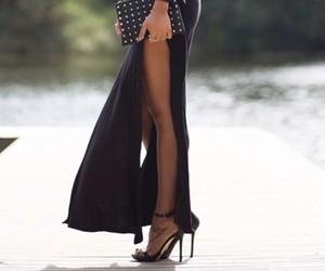 classy, heels, and maxi dress image