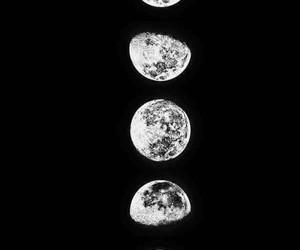 moon, wallpaper, and black image