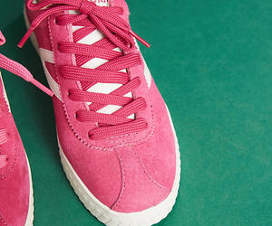pink, sneakers, and suede image