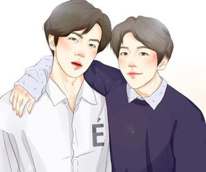 exo, sebaek, and hunbaek image