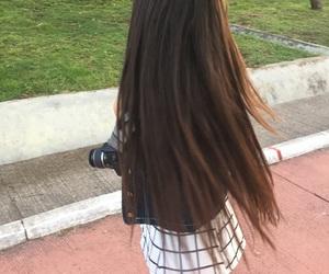 camera, hair, and white image
