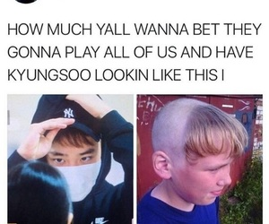 do, exo, and hairstyle image
