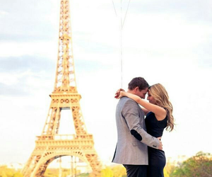 city, couples, and france image