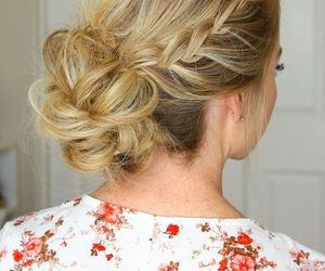 hair, hairdo, and hairstyle image