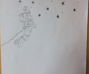 astronaut, draw, and drawings image