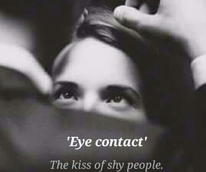 beauty, kiss, and eye-contact image